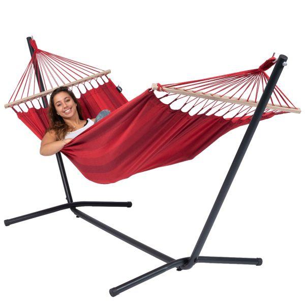 Easy & Relax Red Single Hængekøje med Stativ