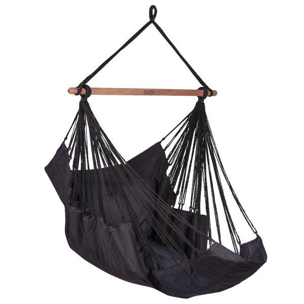 Sereno Black Enkelt Hængekøjestole