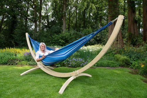 Wood & Chill Calm Dobbelt Hængekøje med Stativ