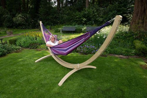 Wood & Chill Love Dobbelt Hængekøje med Stativ