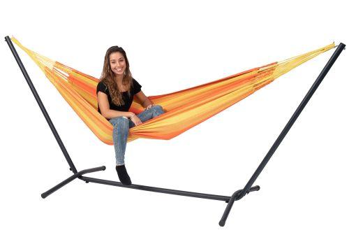 Easy & Dream Orange Single Hængekøje med Stativ