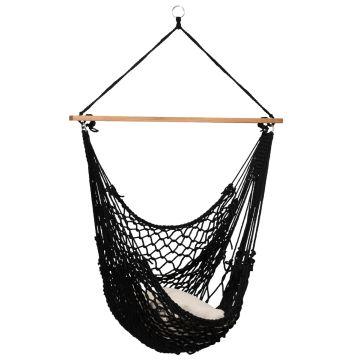 Rope Black Enkelt Hængekøjestole
