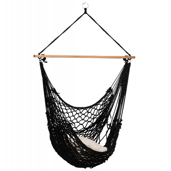 'Rope' Black Enkelt Hængekøjestole